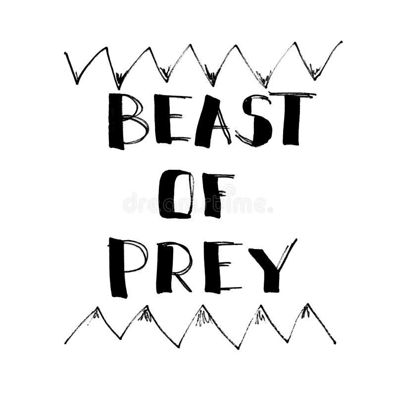 Bestia zdobycz - literowanie royalty ilustracja