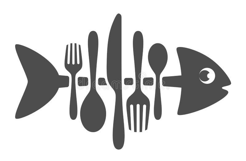 Bestickfisk stock illustrationer