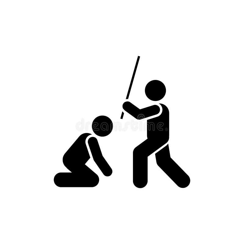 Bestraffning som är ilsken, lärare, klassrumsymbol Best?ndsdel av utbildningspictogramsymbolen H?gv?rdig kvalitets- symbol f?r gr stock illustrationer