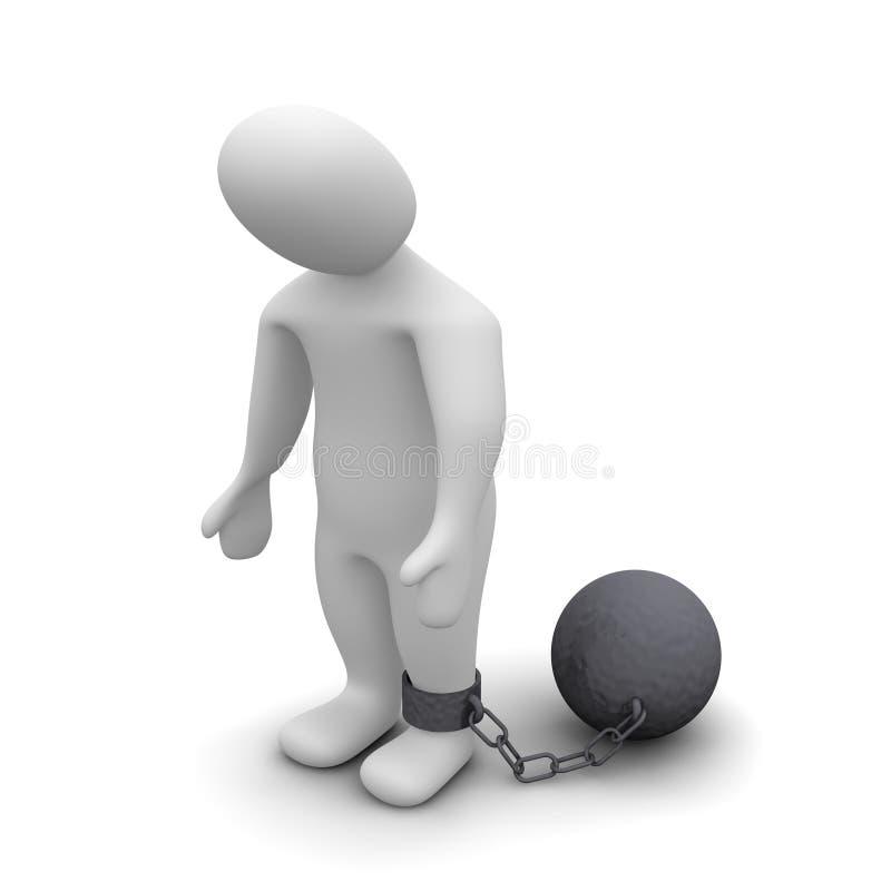 Bestrafter Verbrecher lizenzfreie abbildung