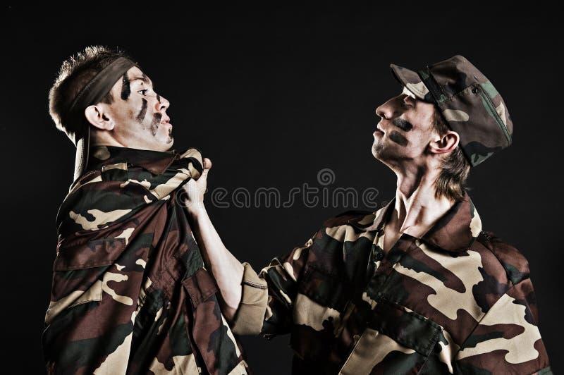 Bestrafung in der Armee stockfotografie