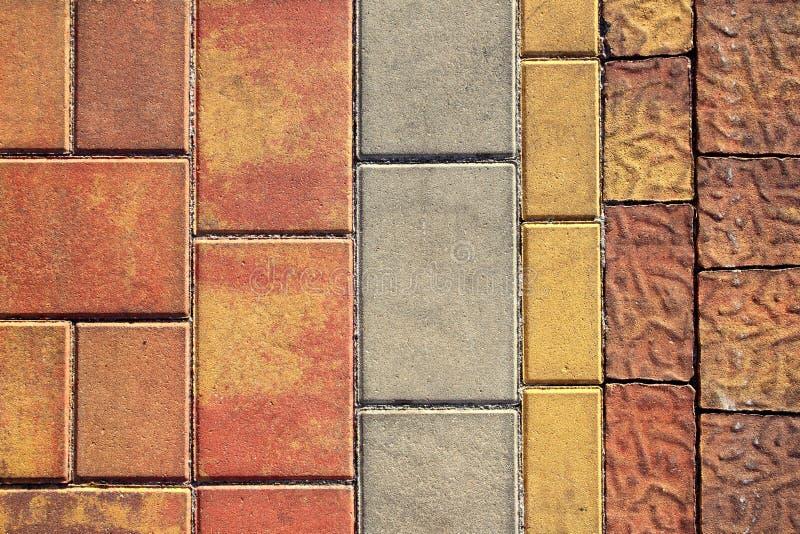 Bestrating die openlucht kleurrijke textuur vloert stock fotografie