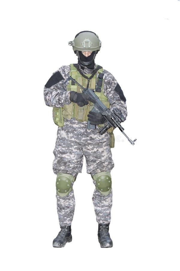 Bestrijding van terrorisme, Speciale Krachtenmilitair vector illustratie