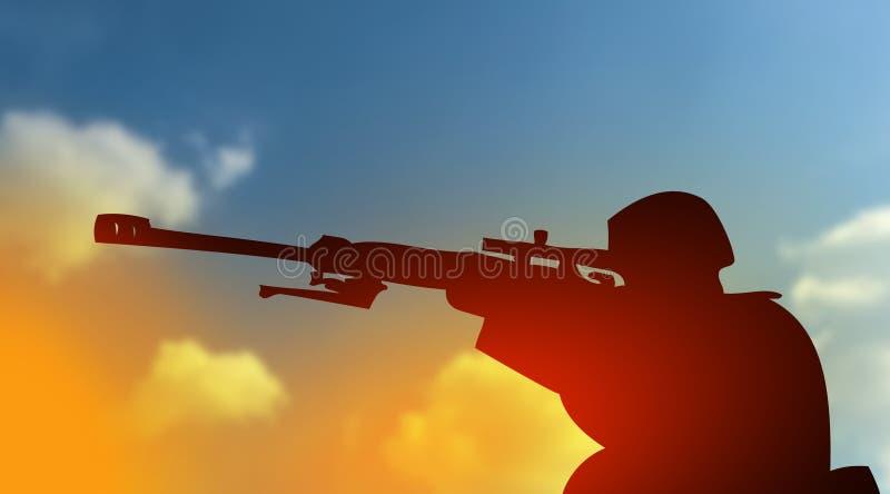 Bestrijding van terrorismeconcept vector illustratie
