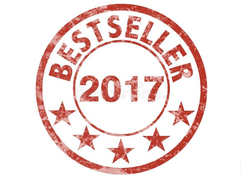 Bestseller 2017 do wfor do selo do Grunge ilustração do vetor