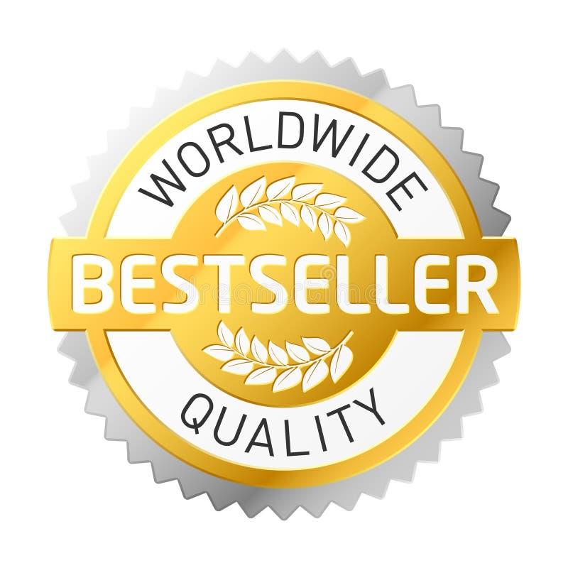 bestseller etykietka ilustracji