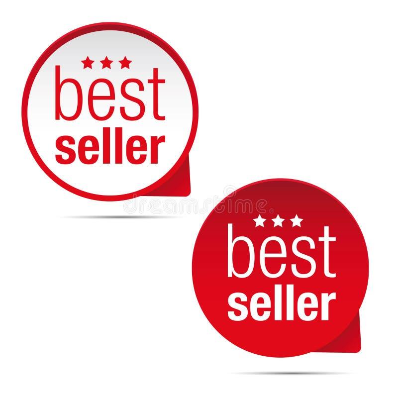 Bestseller etykietki ikony pointer ilustracji