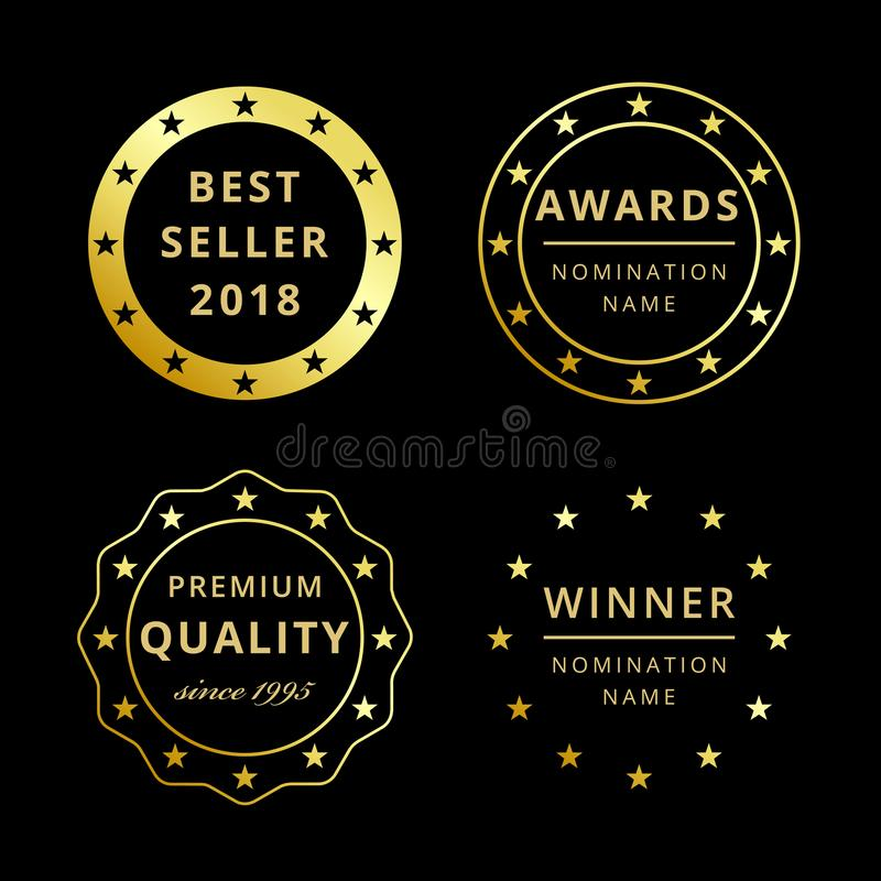 Bestseller 2018 lub cena, 2019 powitań royalty ilustracja