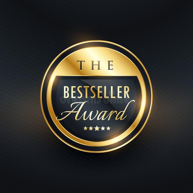 Bestseller nagrody odznaki etykietki projekt dla twój produktu ilustracji