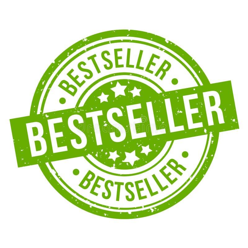 Bestseller round green grunge stamp badge stock illustration