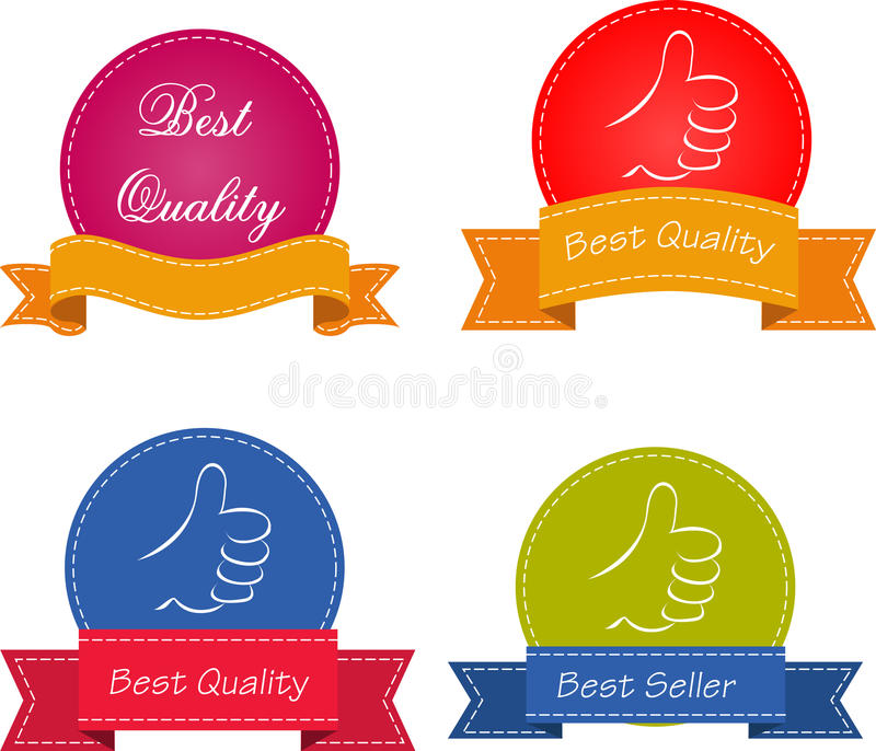 Download Bestseller. Set Of Red Superior Quality And Satisfaction Guarantee Ribbons, Labels, Tags. Retro Vintage Style Stock Vector - Image: 36403226