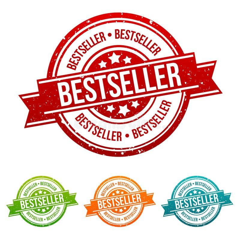 Bestseller Stamp - Onlineshopping Badge in different colours. Eps10 Vector set stock illustration
