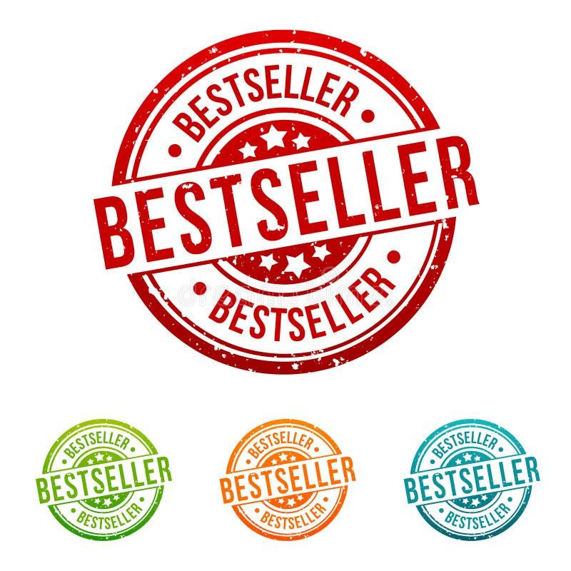 Bestseller Stamp - Onlineshopping Badge in different colours. Eps10 Vector Bestseller stock illustration