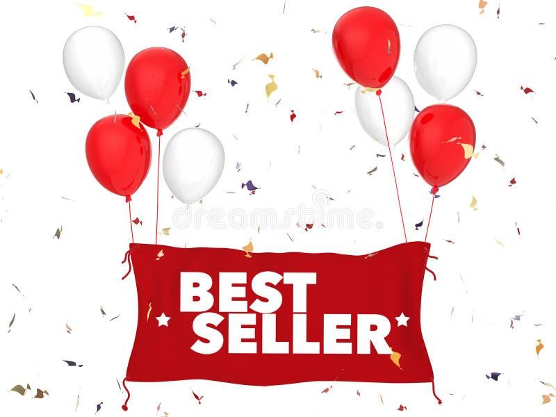 Bestsellerconcept vector illustratie
