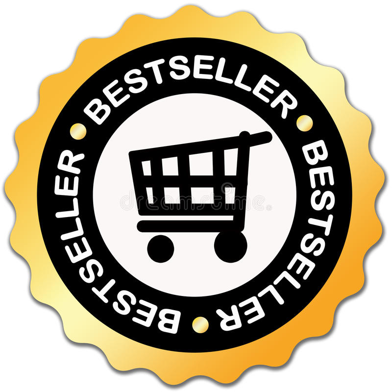 Bestsellerkennsatz stock abbildung