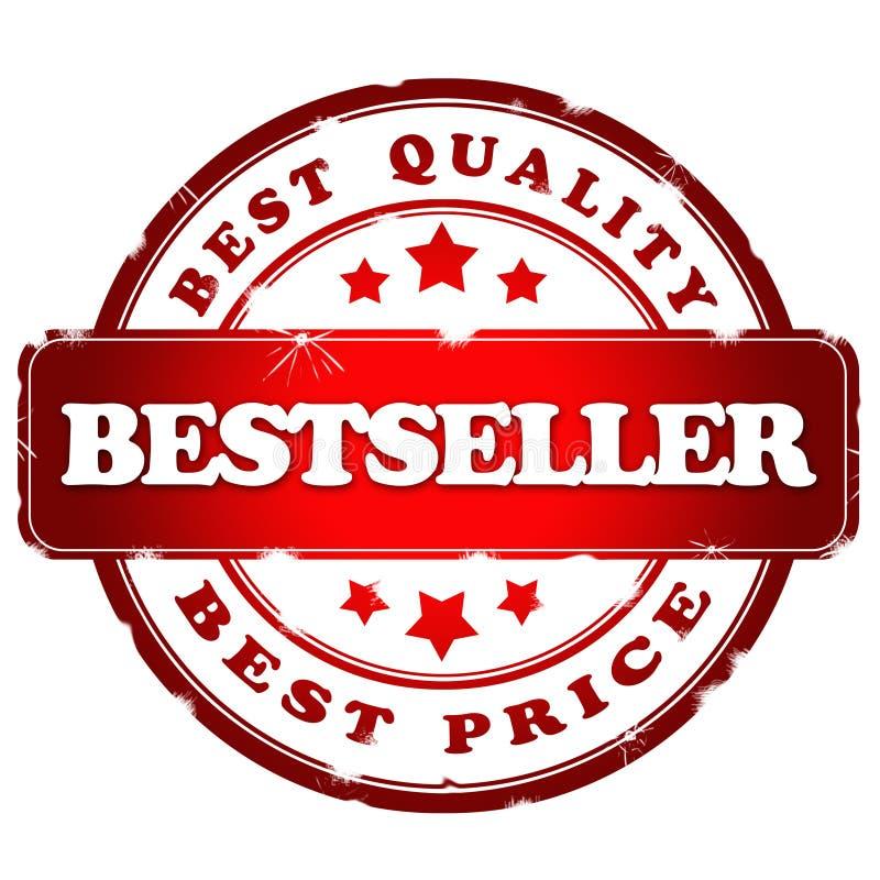 Bestsellerrot satmp lizenzfreie abbildung
