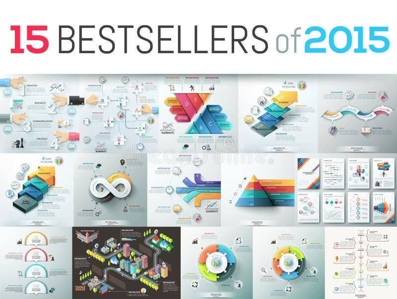 Bestsellers of 2015 vector illustration