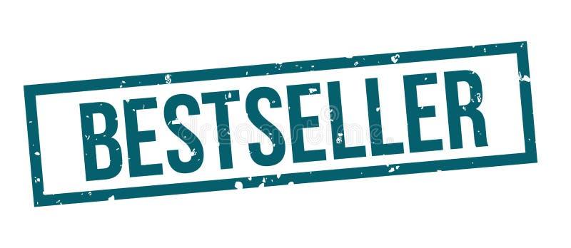 Bestselleru grunge błękita znaczka kwadratowa odznaka ilustracja wektor