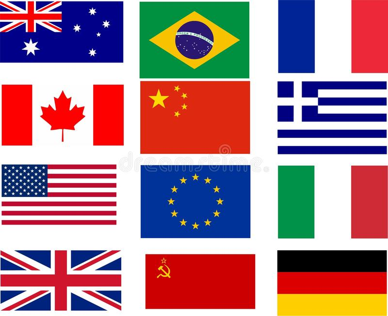 Bestselling flags royalty free stock images