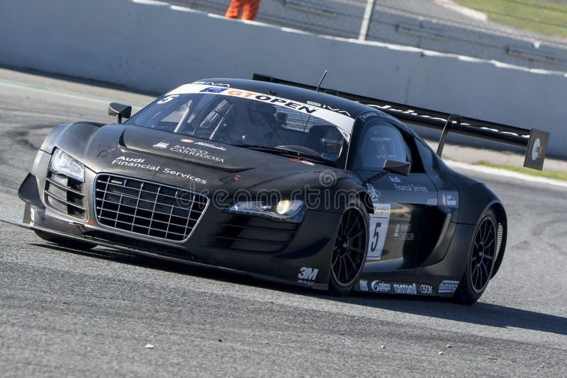 Bestuurder CAMPANICO Audi R8 LMS ultra Internationaal OPEN GT royalty-vrije stock foto