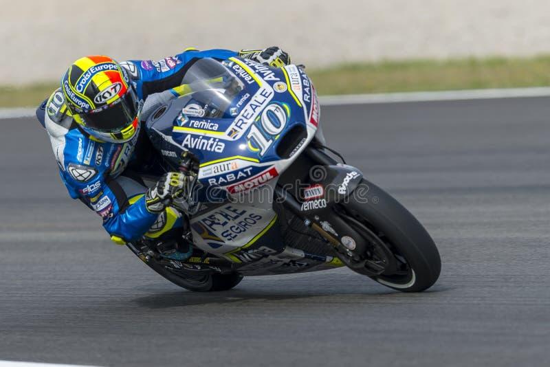 Bestuurder Xavier Simeon De Grand Prix van de monsterenergie van Catalonië MotoGP stock fotografie