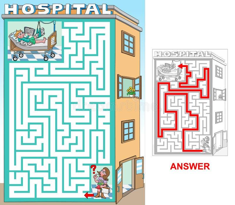 Besuch in einem Krankenhaus stock abbildung