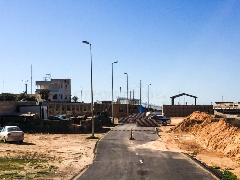 Besuch nach Tripoli in Libyen im Jahre 2016 stockfoto