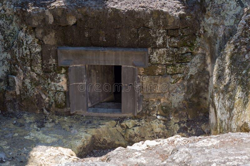 Besuch zu Beit Sheâ-€™arim Nationalpark lizenzfreie stockfotos