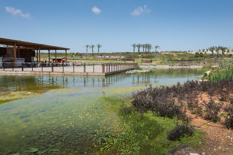 Besuch zu Hiriya (Ariel Sharon-Park) lizenzfreies stockbild