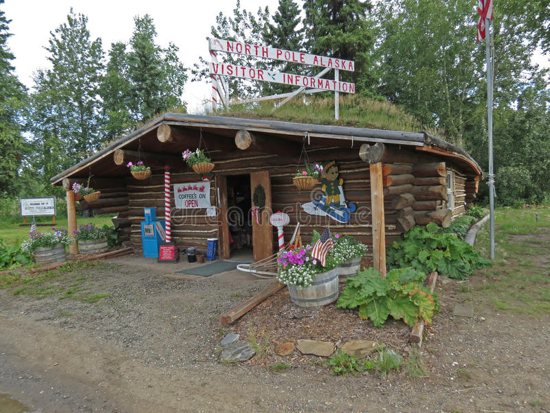 Besucher-Mitte Nordpols Alaska stockfotos