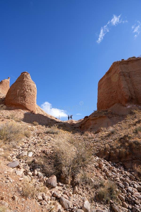 Besucher und buntes Wensu Grand Canyon im Herbst stockbild