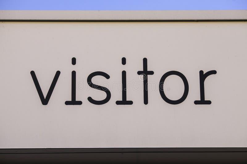 Besucher-Zeichen lizenzfreies stockfoto