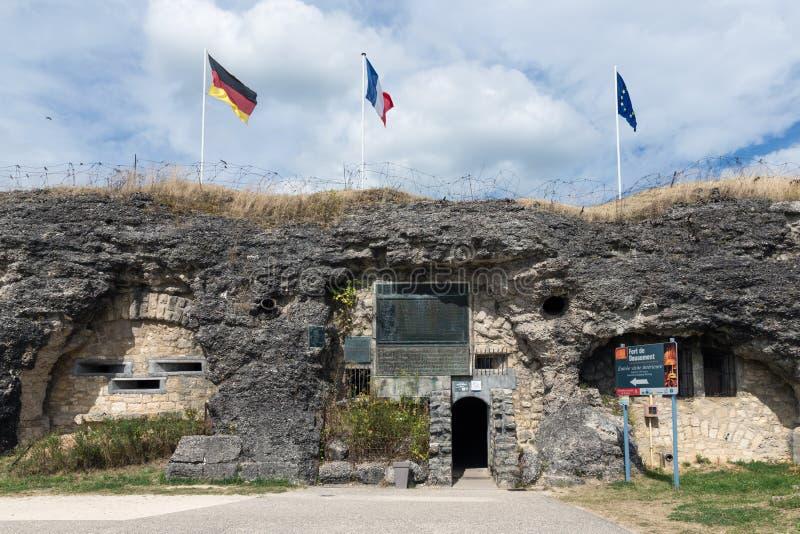 Besuchereingangsfort Douaumont Schlachtfeld des ersten Weltkriegs stockfoto