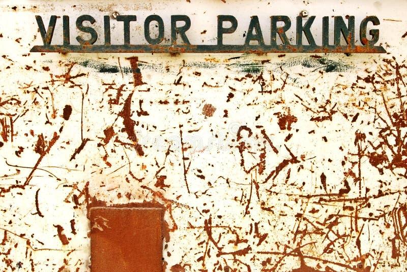 Besucherparkenzeichen stockfoto