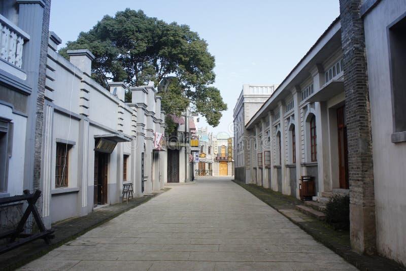 Besuchs-alte Stadt Xincheng an einem allgemeinen sonnigen Tag allein lizenzfreie stockfotografie