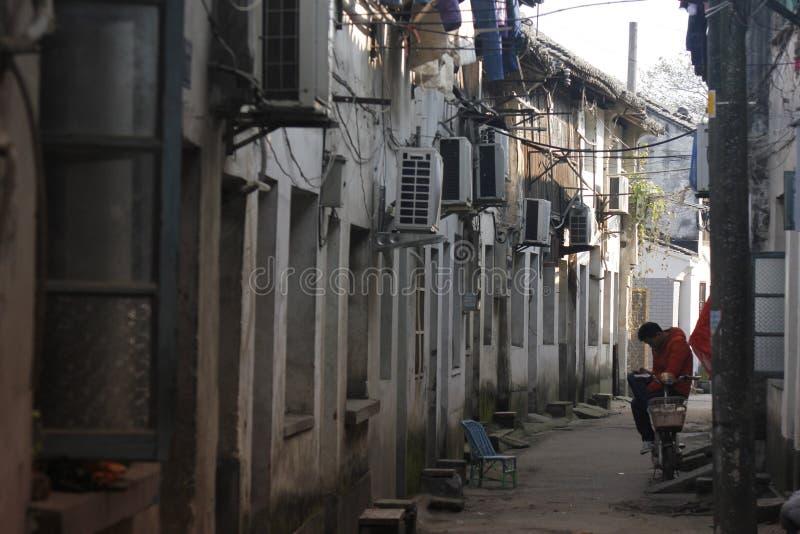 Besuchs-alte Stadt Xincheng an einem allgemeinen sonnigen Tag allein lizenzfreies stockbild