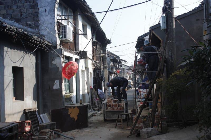 Besuchs-alte Stadt Xincheng an einem allgemeinen sonnigen Tag allein lizenzfreie stockbilder