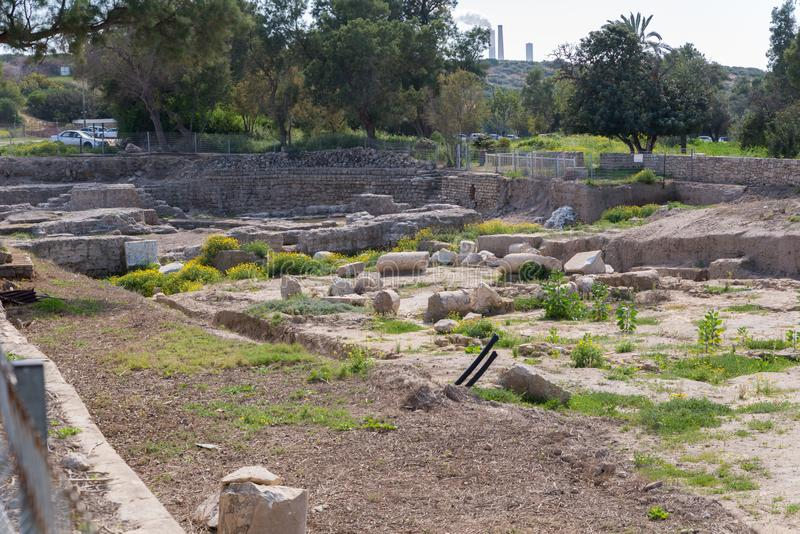 Besuchs-Nationalpark Ashkelon stockfotos