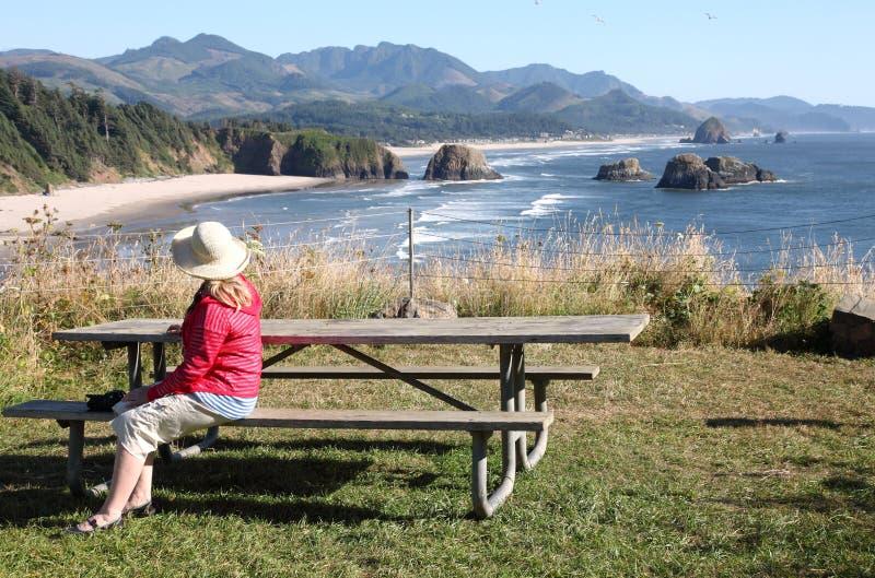 BesuchsEcola Nationalpark, Oregon-Küste. lizenzfreie stockfotos
