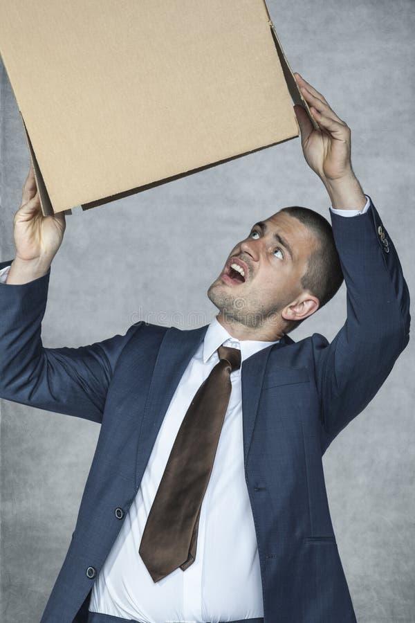 Besviken affärsman arkivfoton