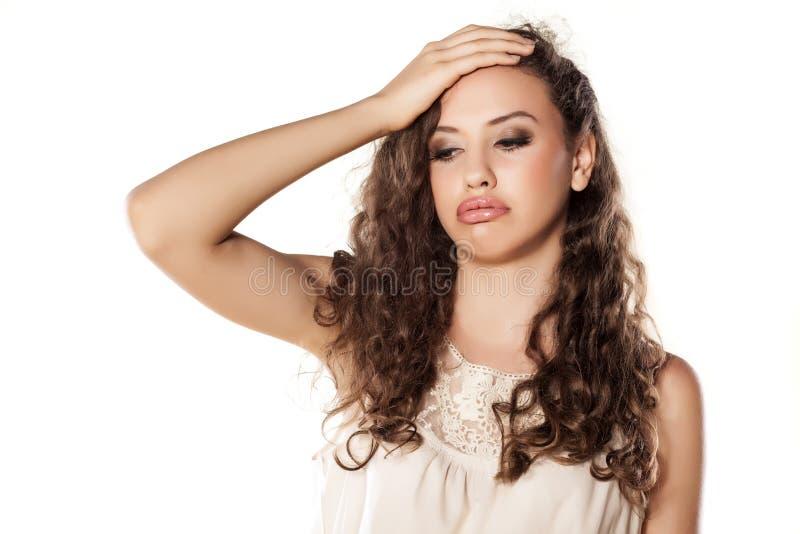 Besviken flicka royaltyfria foton