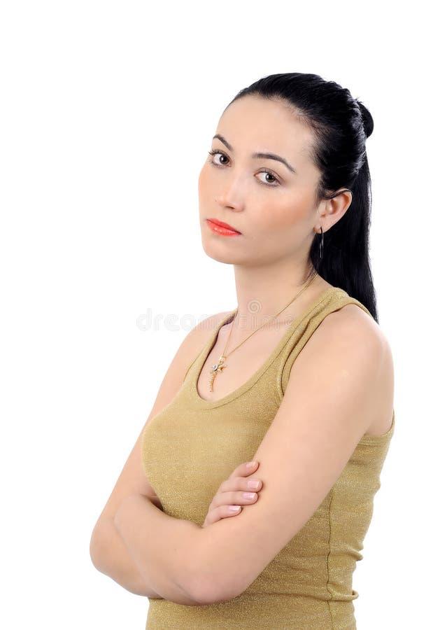 besviken kvinna för affär arkivfoto