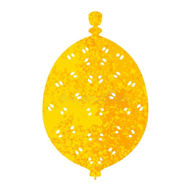 Besynnerlig retro citron för illustrationstiltecknad film vektor illustrationer