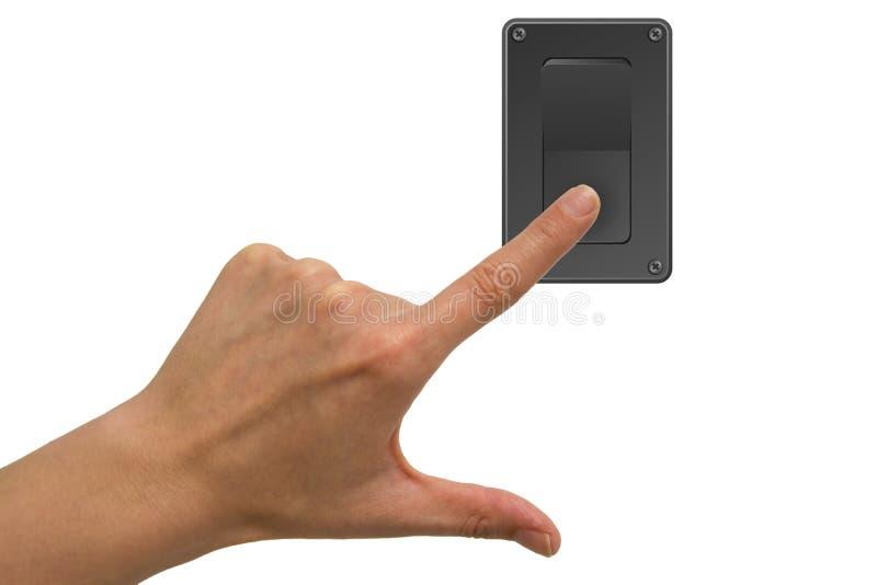 Betätigen Sie Schalter lizenzfreie stockfotografie