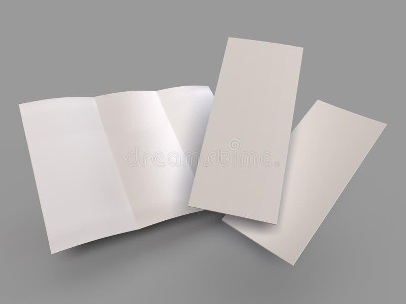 Betäubungs-leere dreifachgefaltete Broschüren-Schablone lizenzfreie abbildung