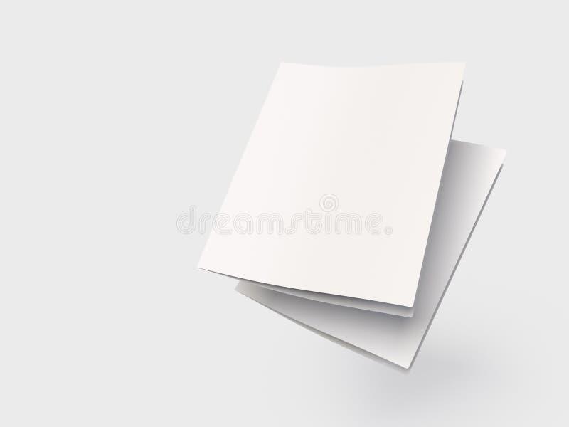 Betäubungs-leere dreifachgefaltete Broschüren-Schablone stock abbildung