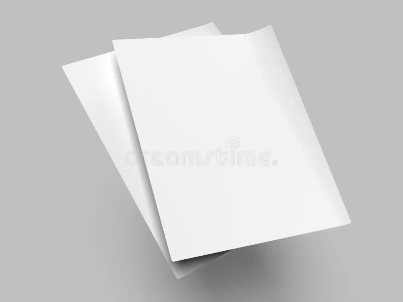 Betäubungs-leere Flieger-Modell-Schablone stock abbildung