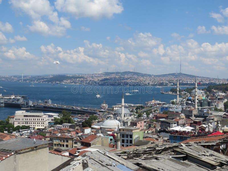 Betäubungsansicht zu Bosporus von der Höhe stockbilder