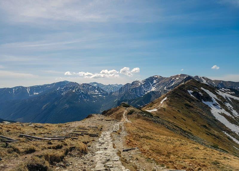 Betäubungslandschaft von Tatra-Bergen, Teil der Karpatengebirgskette in Osteuropa, zwischen Slowakei und Polen stockfoto