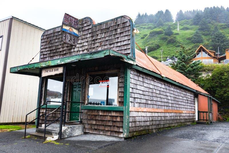 Bet & b-stång, Kodiak, Alaska royaltyfri foto
